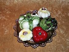 CAPADIMONTE PIECES of FRUIT ~ Cauliflower, Artichoke, Red Pepper, 2 Garlic Bulbs