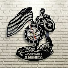 Captain America_Exclusive wall clock made of vinyl record_GIFT