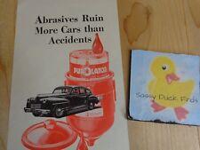 Purolator Oil Filter Magazine Ad Print 1945 Abrasives Ruin More Cars