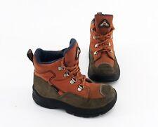 Boots Elefanten Stiefeletten Schnürer Echtleder Textil braun orange Gr. 24