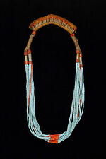Tribal necklace with glass beads from Bing-Fulani tribes Nigeria Africa 1970's