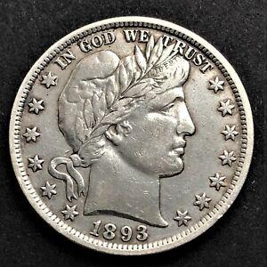 USA/ Half Dollar 1893/ Barber/ KM.116/ Excellent Condition/ SILVER COIN