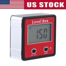 Usa Finder Protractor Magnetic Digital Inclinometer Level Box Gauge Angle Meter