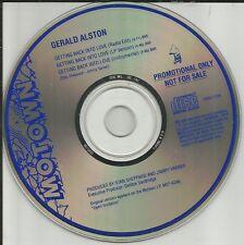 GERALD ALSTON Getting Back into Love EDIT & INSTRUMENTAL PROMO DJ CD Single 1990