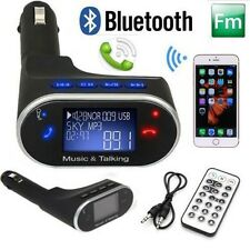 Bluetooth Car Kit Radio Adapter Handsfree FM Transmitter for iPhone 6S+ Samsung