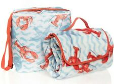 Insulated Soft Cooler Picnic Blanket Set Leakproof Perfect For Beach Lobster
