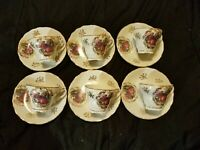 Lot of Royal vienna demitasse Renaissance style Cups And Saucers