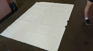 7.5' X 5.5' SHOWER CURTAIN & 3' X 2.25' POUCH IN AN EGGSHELL COLORING