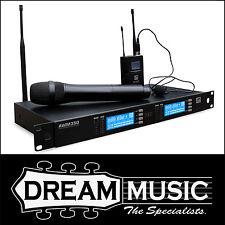 Ashton AWM350HTBP Dual Wireless Handheld & Lapel Microphone System RRP$699