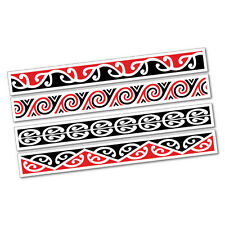 Maori Kowhaiwhai Pattern Strips Sticker New Zealand NZ Kiwi Car Fern #7045EN
