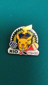 2016 Rio Olympic Games Pikachu Media Pin Badge TV TOKYO 2020 Trader Pokemon