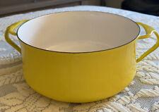 Vintage Yellow Enamel Dansk Kobenstyle Dutch Oven Excellent Condition - No Lid