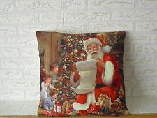 Kissenhülle Kissenbezug Dekokissen Weihnachten Advent  Kinder Schnee 40x40 cm