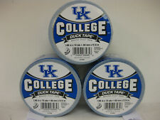 "University of Kentucky UK  Logo Duck Brand Duct Tape, 1.88"" x 10YD - 3 PACK"