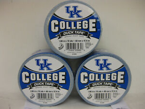 "University of Kentucky UK  Logo Duck Brand Duct Tape, 1.88"" x 10YD- 10 Rolls"