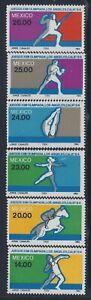 Mexico, Scott #1351-1356, Summer Olympics, MNH