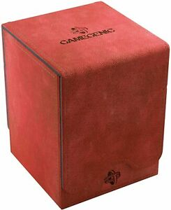 Squire 100+ Card Convertible Deck Box: Red GameGenic Asmodee NEW