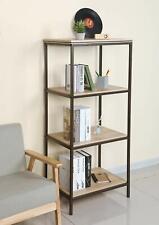 Standregal Bücherregal Lagerregal Haushaltsregal Küchenregal Metall Holz Vintage