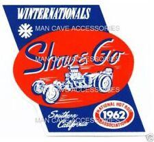 Vintage 1962 NHRA Winternationals Show & Go Vinyl Decal Sticker 4399