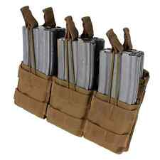 Condor MA44 COYOTE BROWN MOLLE Triple Stacker M4 Mag Open Top Magazine Pouch