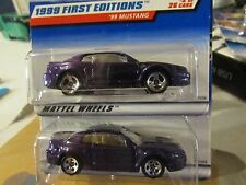 Hot Wheels Lot of (2) '99 Mustang Types!! All different wheel variation