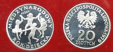 1979 Poland Proba PROOF Pattern Silver 20 ZLOTYCH Year Of The Child