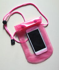 Waterproof PINK Pouch for Phone / Camera / Keys /Money Dry Bag Sports Beach Case