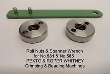 2 Roll Nuts & Spanner Wrench for Roper Whitney & Pexto Rotary Machines