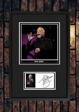 More details for (#254)   tom jones signed a4 photo//framed (reprint) great gift @@@@@@@@@@@@@@@@