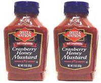 Dietz & Watson, Deli Compliments, Cranberry Honey Mustard, 11oz Bottle (Pack ...