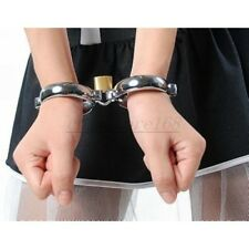 Stainless Steel Handcuffs Ankle Wrist Cuffs Restraint Metal Cuffs Lock Roleplay
