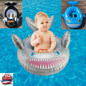 baby shark baby kids Swimming raft inflatable pool float seat ring tube raft Toy
