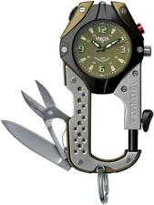 Dakota Knife Clip Watch Stainless Black Olive Green 100ft Water Resistant 8763