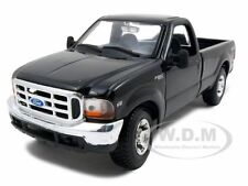 1999 FORD F-350 SUPER DUTY PICKUP TRUCK BLACK 4X4 1:27 DIECAST BY MAISTO 31937