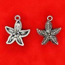 10 x Tibetan Silver Starfish Star Fish Sealife Charms Pendants Crafts Beads