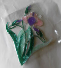 New listing Vintage Iris Flower Sequined Applique Sequins 13 1/2 Inches