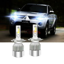 FOR MITSUBISHI L200 2005-2015 Single Headlight LED Kit  2x H4 Bulbs PURE WHITE