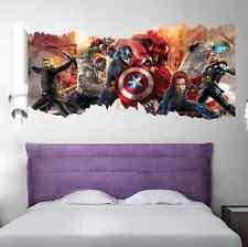 Vista 3d Los Vengadores Capitán América Wall Decals Arte Pvc decoración pegatinas de pared del Reino Unido