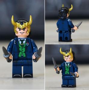 LOKI (Tom Hiddleston) - The God of Mischief - Custom Minifigure Marvel HOT NEW