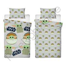 Mandalorien Visage Set Housse de Couette Simple Star Wars Bébé Yoda Enfants
