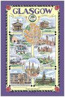 Glasgow Cotton Tea Towel by Samuel Lamont