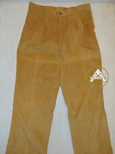 Vintage 80 SENZA MARCA M Pantaloni Velluto Marrone Trousers Leggeri Velvet