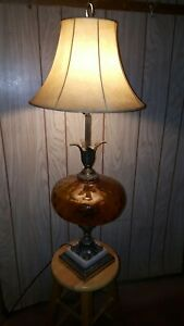 Traditional Table Lamp Urn Two Tone Bronze Off White for Living Room Bedroom