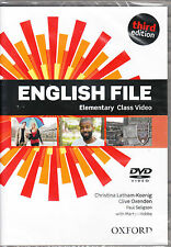 Oxford NEW ENGLISH FILE THIRD EDITION Elementary Class Video DVD @BRAND NEW@