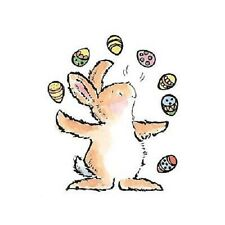 PENNY BLACK RUBBER STAMPS JUGGLING EGGS BUNNY STAMP
