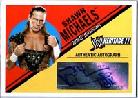 WWE Shawn Michaels 2006 Topps Heritage II Authentic Autograph Card