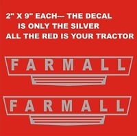 "2 FARMALL DECALS  2/"" x 8.75/""  FREE SHIPPING"