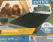 "Intex Full 10"" DuraBeam Expedition Airbed Mattress with Battery Pump New 600 Lb"