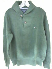 TOMMY HILFIGER MEN'S SHAWL NECK PULLOVER SWEATER, FOREST GREEN, SiZE MEDIUM, NEW