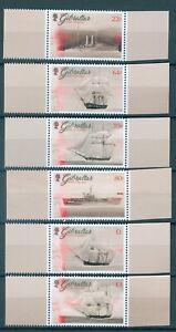 GIB-1790-1796 2017 Schiffe Royal Navy postfrisch Bogenrand (26)